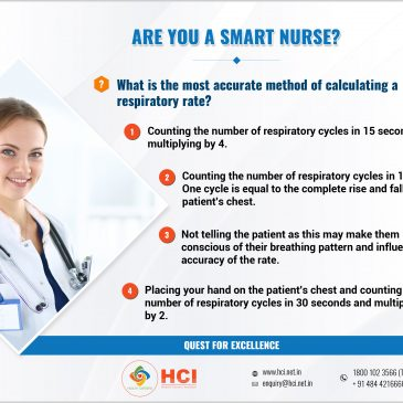 What is the most accurate method of calculating a respiratory rate?
